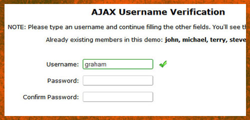 ajax username checker 0011 11+Example Ajax Auto Check Availability Username in PHP