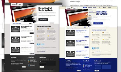 design tree 40 (Really) Beautiful Web Page Templates in Photoshop PSD