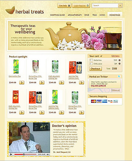 herbal treats 40 (Really) Beautiful Web Page Templates in Photoshop PSD