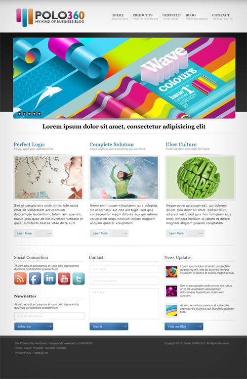 polo360 40 (Really) Beautiful Web Page Templates in Photoshop PSD