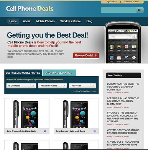 small cellphone web 40 (Really) Beautiful Web Page Templates in Photoshop PSD