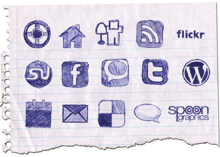 doodle icons 450 15 Free Awesome Social Bookmark Icons Sets